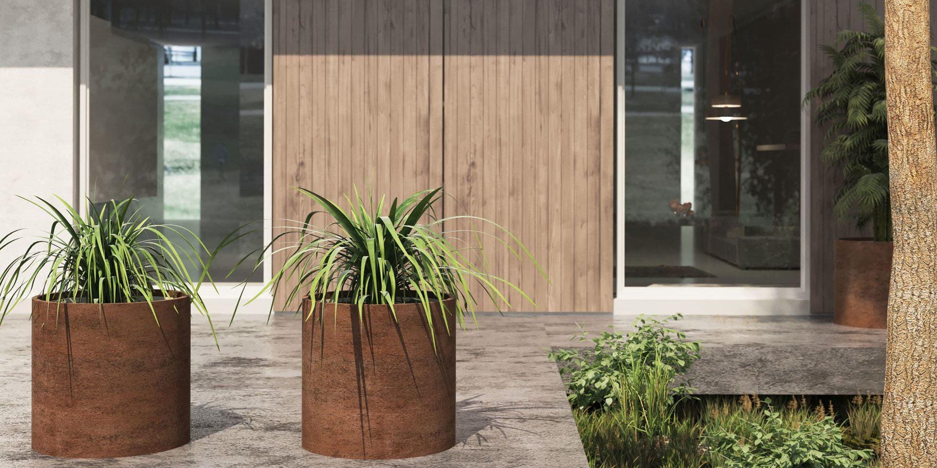 Das Material Des Pflanzkübel Cortenstal Blumenkübel World Of