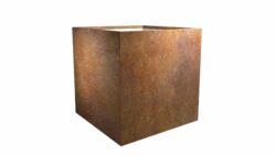 cortenstahl blumenkübel model cubi 5