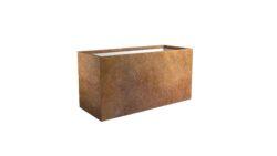 cortenstahl blumenkasten model cubi 11