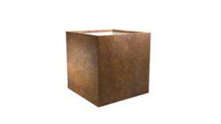 cortenstahl pflanzgefäße model cubi 4