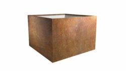 pflanztrog aus cortenstahl model cubi 7