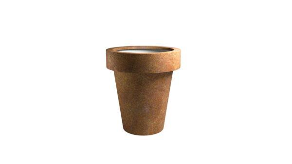 rostiges metall für den garten model vaso 7