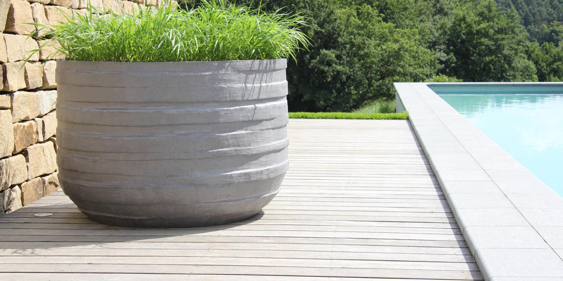 Pflanzkübel Aus Beton.Design Pflanzkübel Aus Beton Worldofflowerpots