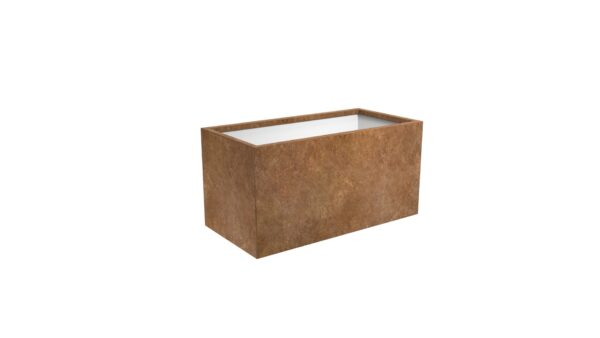pflanzkübel corten model cubi 15